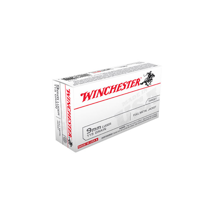 Winchester, 9mm, 115 Gr 50 Rds